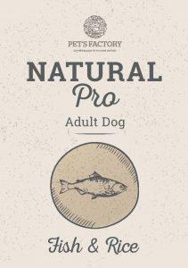 PET'S FACTORY Natural PRO Fish & Rice