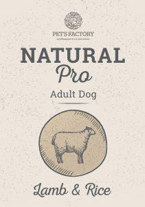 PET'S FACTORY Natural PRO Lamb & Rice