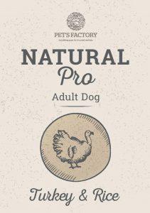PET'S FACTORY Natural PRO Turkey & Rice