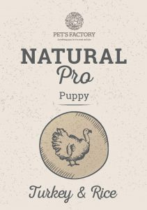 PET'S FACTORY Natural PRO Puppy Turkey & Rice