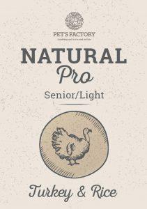 PET'S FACTORY Natural PRO Senior/Light Turkey & Rice