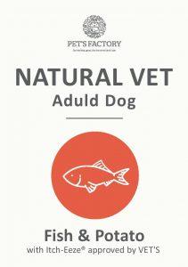 PET'S FACTORY Natural VET Fish & Potato with Itch-Eaze® 12 kg