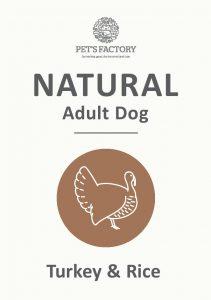 PET'S FACTORY Natural Turkey & Rice