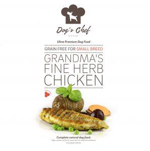 DOG'S CHEF Grandma's Fine Herb Chicken for SMALL BREED