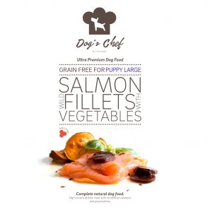 DOG'S CHEF Wild Salmon fillets with Vegetables for LARGE BREED PUPPIES