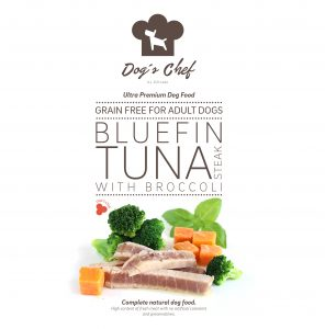 DOG'S CHEF Bluefin Tuna steak with Broccoli