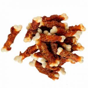 Pamlsok Salač Kosť kalciová mäkká obalená kuracím mäsom 250g