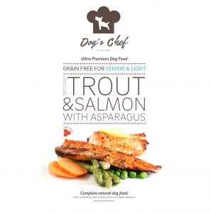 DOG'S CHEF Diet Loch Trout & Salmon with Asparagus SENIOR & LIGHT