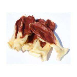Pamlsok Salač Králičie uši plnené kačacím mäsom 100g