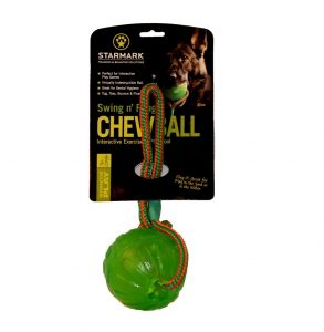 STARMARK Chew Ball so šnúrkou L