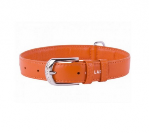 Collar Glamour kožený obojok Orange