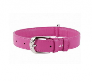 Collar Glamour kožený obojok Pink