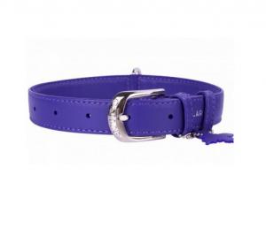 Collar Glamour kožený obojok Purple