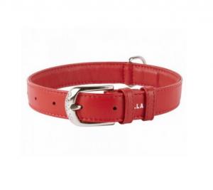 Collar Glamour kožený obojok Red