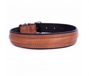 COLLAR Soft kožený obojok brown-black