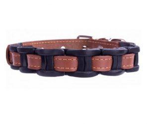 COLLAR kožený obojok vkladaný black-brown