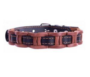 COLLAR kožený obojok vkladaný brown-black