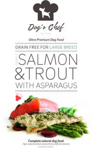 DOG'S CHEF Atlantic Salmon & Trout with Asparagus Large Breed