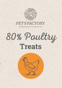 PET'S FACTORY Grain Free 80% Poultry Treats