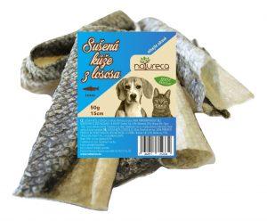 NATURECA Losos koža sušená 15 cm – 50 g