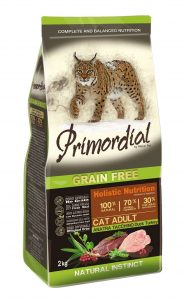 Primordial GF Cat Adult Duck & Turkey 2 kg