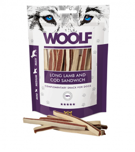 Woolf Dog Lamb & Codfish Soft Sandwich LONG 100 g