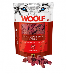Woolf Dog Cranberry Soft Strips 100 g