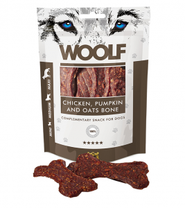Woolf Dog Chicken & Pumpkin & Oats Bone 100 g