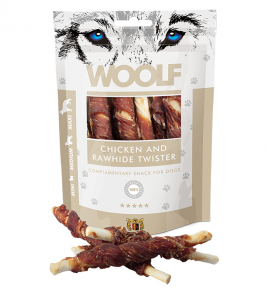Woolf Dog Chicken & Rawhide Twister 100 g