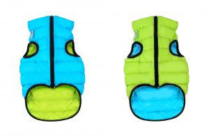 Teplá vesta pre psa AiryVest zeleno/modrá obojstranná