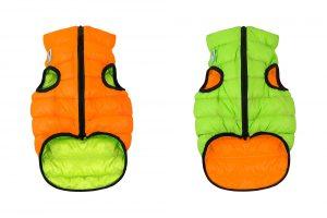 Teplá vesta pre psa AiryVest oranžovo / zelená