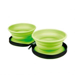 KIWI Cestovná miska dvojitá zelená