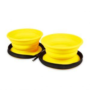 KIWI Cestovná miska dvojitá žltá