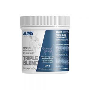 ALAVIS Triple Blend pre psy a mačky plv. 200 g