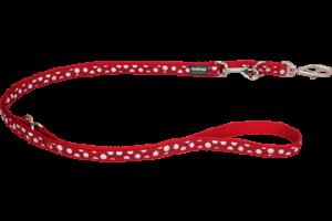 Prepínacia vôdzka Design White Spots on Red