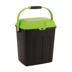 Maelson Box na granule na 3,5 kg krmiva – čierno-zelený – 27 x 22 x 31 cm