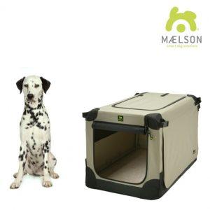 Maelson Nylonová skladacia prepravka s oceľovou konštrukciou – čierno-béžová  L