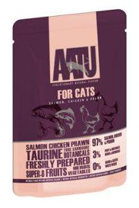 Aatu Cat Salmon & Chicken & Prawn 85g