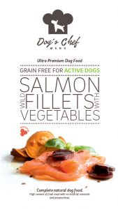 DOG'S CHEF Wild Salmon fillets with Vegetables  ACTIVE DOGS