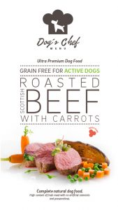 DOG'S CHEF Roasted Scottish Beef with Carrots ACTIVE DOGS