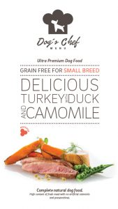 DOG'S CHEF Delicious Turkey with Duck and Camomile SMALL BREED
