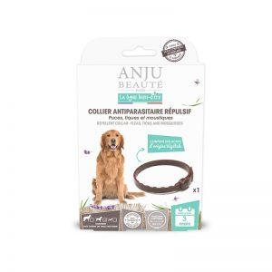 ANJU BEAUTÉ Antiparazitný obojok proti kliešťom pre stredné psy