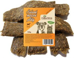 NATURECA pochúťka Mäsové pláty-Jahňa 100% mäso 100g