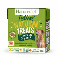 NATURE DIET Feel Good Natural Dog Treats Chicken with Lamb 150g