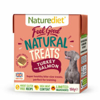 NATURE DIET Feel Good Natural Dog Treats Turkey with Salmon 150g