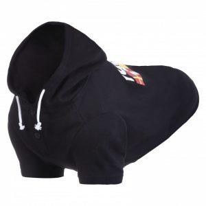 RUKKA Sierra –  Bavlnená mikina pre psa čierna
