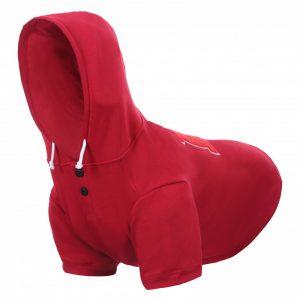 RUKKA Sierra –  Bavlnená mikina pre psa červená